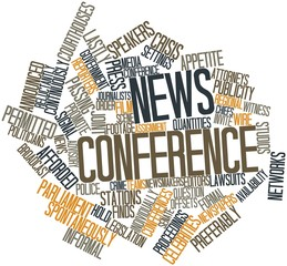 Word cloud for News conference