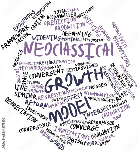 Word cloud for Neoclassical growth model