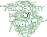 Word cloud for Philosophy of love poster