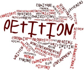 Word cloud for Petition