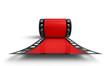3D Filmrolle - Rot Frontal Ansicht