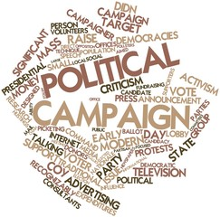 Word cloud for Political campaign