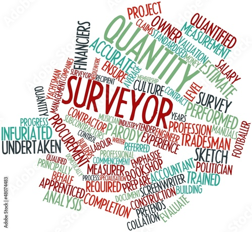 Word cloud for Quantity surveyor