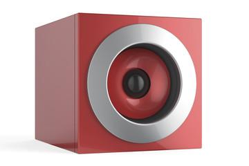 Red speaker