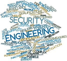 Word cloud for Security engineering