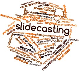 Word cloud for Slidecasting