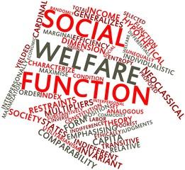 Word cloud for Social welfare function