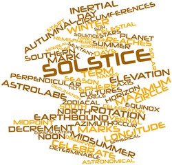 Word cloud for Solstice