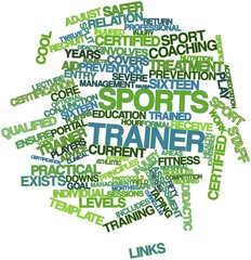 Word cloud for Sports trainer