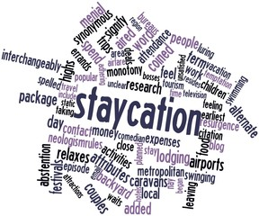 Word cloud for Staycation