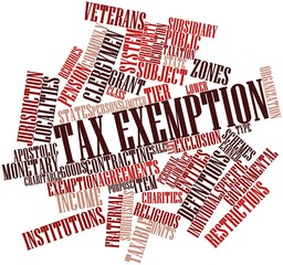 Word cloud for Tax exemption