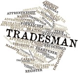 Word cloud for Tradesman poster
