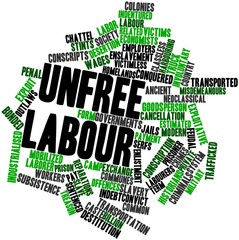Word cloud for Unfree labour