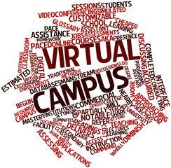 Word cloud for Virtual campus