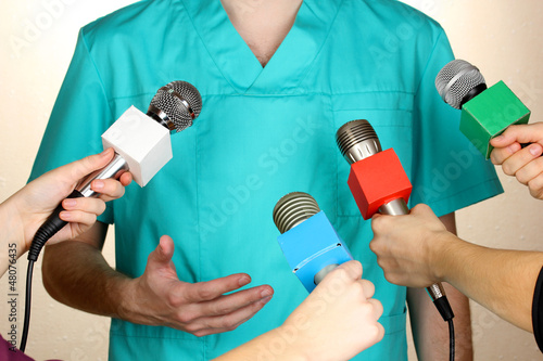 Conference meeting microphones and doctor