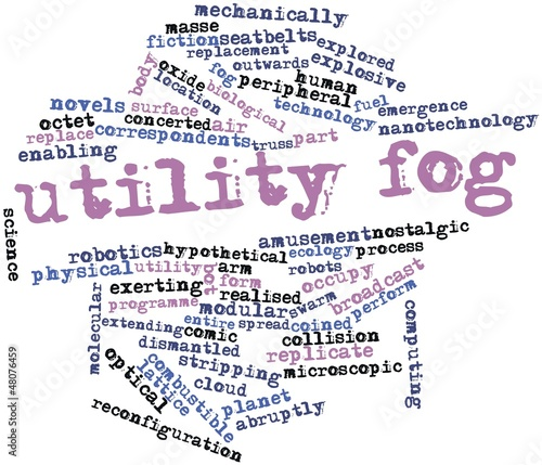 Word cloud for Utility fog