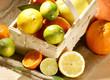 Südfrüchte im Spankorb