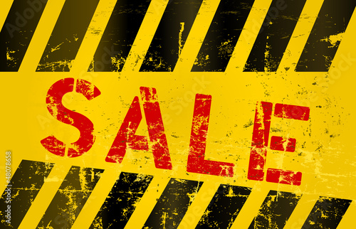 Sale sign, vector illustration
