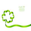 Ribbon Green Cloverleaf