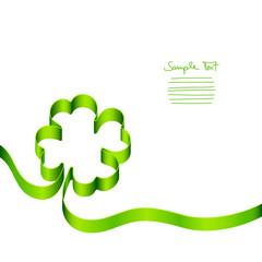 Green Cloverleaf Card