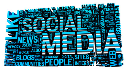 Social Media concepts isolated on white background