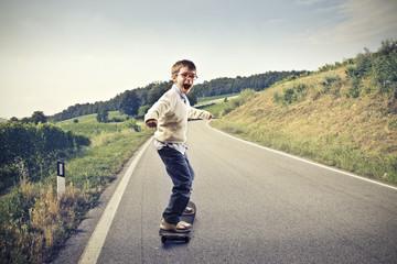 Child Skateboarding