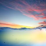 Fototapety sundown seascape