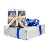two gift box with ribbon