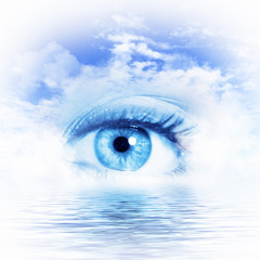 Eye overlooking water scenic
