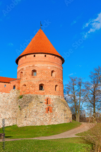 Trakai, Lithuania: old defensive tower