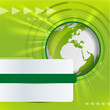 Abstract vector background with green globe