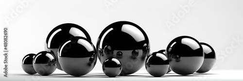 abstract metal balls - 48082690