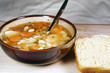 Fresh, homemade, chicken and vegetable soup.