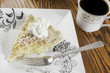 Coconut cream pie and coffee