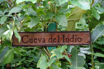 Signboard Cueva Del Indio
