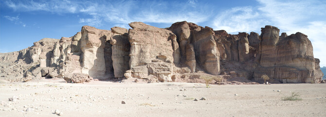 Pillars of King Solomon in geological park Timna, Israel