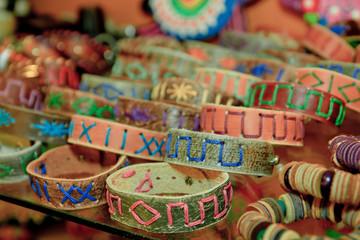 Wristbands in an Ecuador market