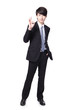 smiling business man with okay gesture