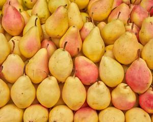 juicy pears, food background