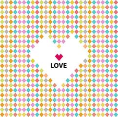 Love pattern, valentine's day