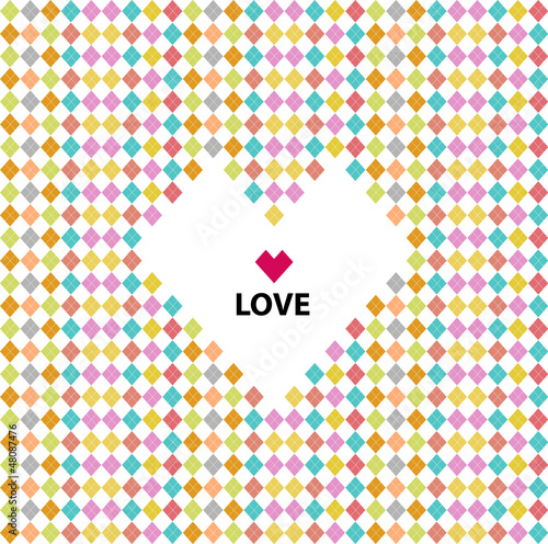 Love pattern, valentine's day
