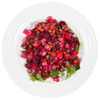 Russian beetroot salad Vinegret on plate