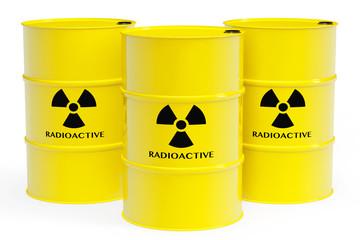 Barrels with radioactive materials