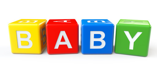 Blocks with baby sign