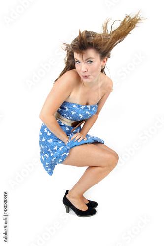 junge Frau beim tanzen