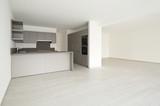 modern architecture, new empty apartment , kitchen