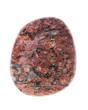Mineralien: Leopardenfelljaspis auf weißem Hintergrund