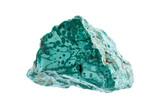 Mineralien: Malachit auf weißem Hintergrund