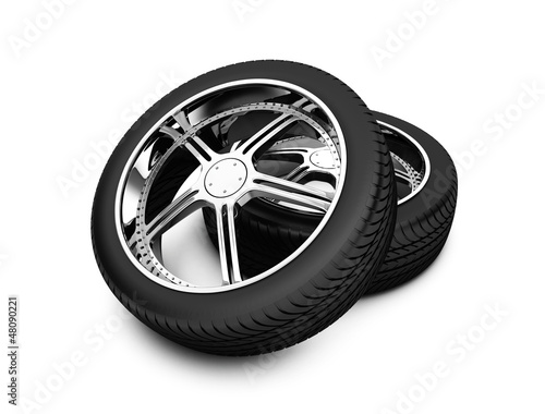 Wheels isolated on white