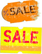 sale stickers, adhesive labels, vector illustration